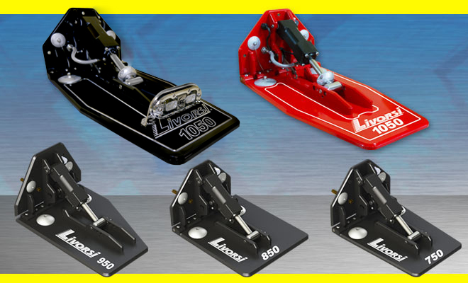 LIVORSI HYDRAULIC BILLET TRIM TABS NOW AVAILABLE WITH A POWDER COAT FINISH AND PRIVATE LABEL OPTIONS